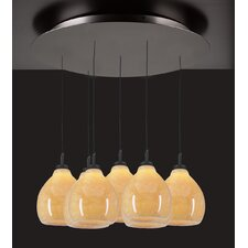 <strong>PLC Lighting</strong> Mango 7 Light Mini Pendant