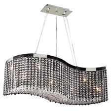 <strong>PLC Lighting</strong> Clavius-II 8 Light Crystal Chandelier