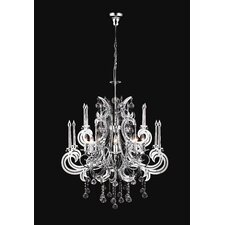 <strong>PLC Lighting</strong> Paris 8 Light Chandelier