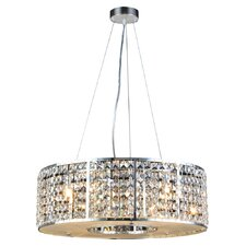 Mondrian 6 Light Crystal Pendant