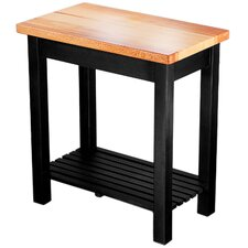 Rock Creek Kitchen Island with Butcher Block Top