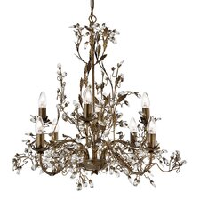 Almandite 8 Light Crystal Chandelier