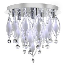 Mia 6 Light Flush Mount in Chrome