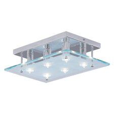 Dallas Large 6 Light Semi Flush Mount