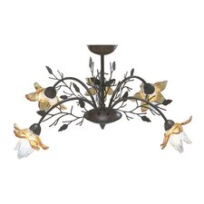 Orchid 5 Light Semi Flush Mount