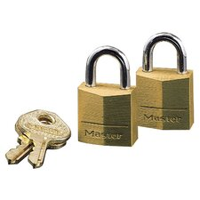 <strong>Master Lock Company</strong> Brass Padlock (Set of 2)