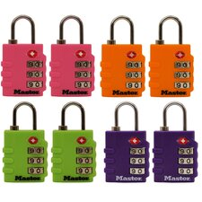 <strong>Master Lock Company</strong> Assorted Colors Luggage Locks
