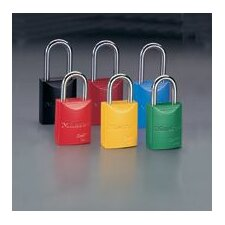 """1 31/32"""" High Body High-Visibility Aluminum Padlock - Keyed Differently With 1 1/16"""" Shackle (Set of 6)"""