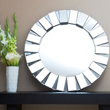 "Pacific 35.5"" H x 35.5"" W Wall Mirror"