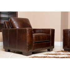<strong>Abbyson Living</strong> Beverly Hand Rubbed Leather Armchair