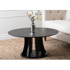 Kinlin Espresso Wood Round Coffee Table