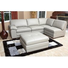 Stewart Leather Modular Sectional