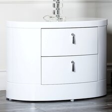 Jengo White High Gloss Nightstand