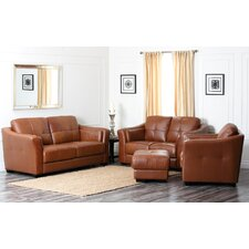 Sherwood Premium Leather Sofa, Loveseat, and Armchair Set