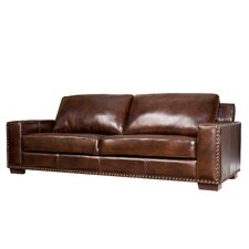 Beverly Hand Rubbed Leather Sofa