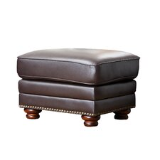 <strong>Abbyson Living</strong> Fairfax Top Grain Leather Ottoman