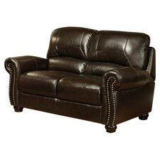 <strong>Abbyson Living</strong> Broadway Italian Leather Loveseat