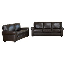 Bliss Leather Sofa and Loveseat Set