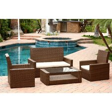 Palermo Outdoor 4 Piece Deep Seating Group