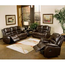 Providence Italian Leather Reclining Loveseat