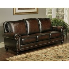 Barclay Hand Rubbed Leather Sofa