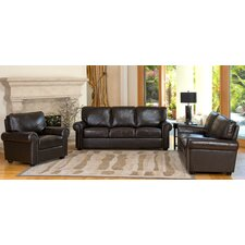 Bliss 3 Piece Italian Leather Sofa, Loveseat and Armchair