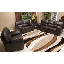 Preston Premium Italian Leather Sofa, Loveseat and Armchair