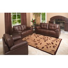 <strong>Abbyson Living</strong> Florence 3 Piece Italian Leather Sofa, Loveseat and Armchair