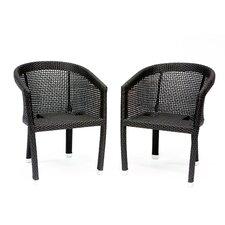 Galveston Patio Dining Arm Chair (Set of 2)