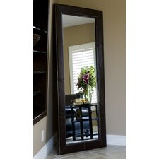 Allure Bicast Leather Floor Mirror