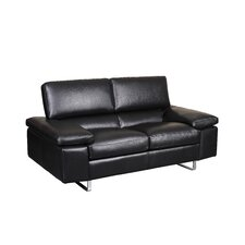 Fiona Leather Loveseat (Set of 2)