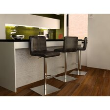 Georgio Adjustable Height Swivel Bar Stool with Cushion