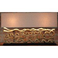 "Natural Wood 26"" H Table Lamp with Rectangular Shade"