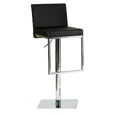 Ann Adjustable Height Swivel Bar Stool with Cushion