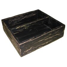Deep Wooden Tray in Black