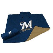 MLB Milwaukee Brewers All Weather Fleece Blanket