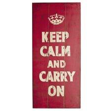 Schild Keep Calm This & That - 90 x 40 cm