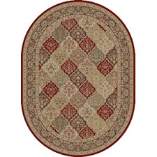 Empire Red/Ivory Checked Rug