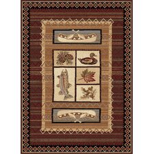 Nature Lake Motif Novelty Rug