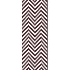Metro Brown Chevron Rug