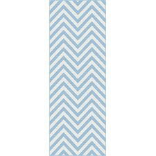 Metro Blue Chevron Rug