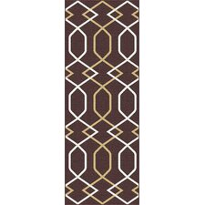 Metro Brown Geometric Rug