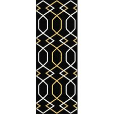 Metro Black Geometric Rug