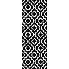 Metro Black Moroccan Tile Rug