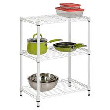 Three Tier Shelving Unit in White