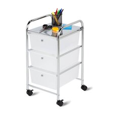 "25.59"" 3 Drawer Rolling Cart"