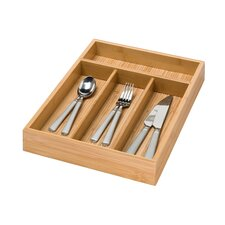 4 Compartment Bamboo Cutlery Tray