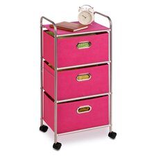 "35.5"" 3 Drawer Rolling Cart"