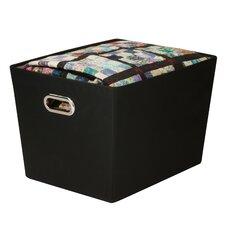 Large Decorative Storage Bin With Handles