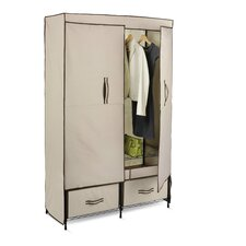 "70.9"" H x 45"" W x 18.1"" D Double Door Wardrobe"